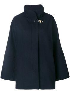 расклешенное пальто с потайной планкой  Fay