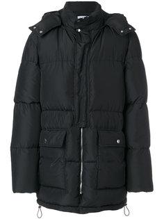 пуховое пальто с капюшоном MSGM