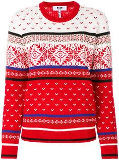 свитер с узором MSGM