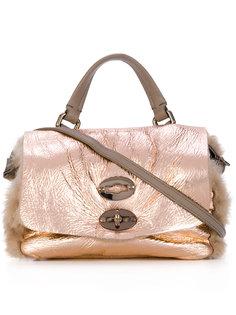 маленькая сумка с меховой отделкой Zanellato