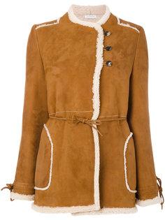 двубортная куртка из овечьей кожи  JW Anderson