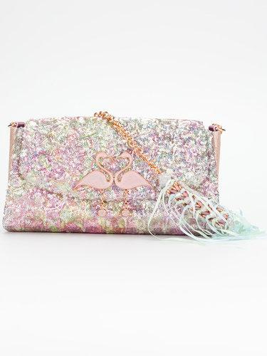 сумка с пайетками и фламинго Sophia Webster