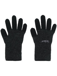 двухцветные перчатки  Yohji Yamamoto