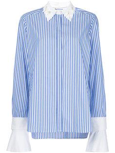полосатая рубашка с декорированным воротником Muveil