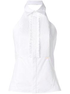 рубашка без рукавов с оборками  Dsquared2