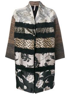пальто с контрастным узором  Antonio Marras