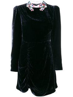 платье с цветочной отделкой на воротнике  Vivetta