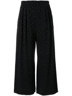 широкие укороченные брюки в горошек  Max Mara