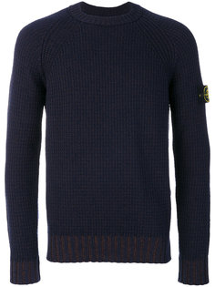 вязаный свитер с ребристой фактурой Stone Island