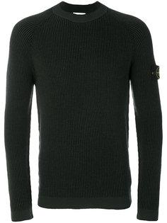 свитер с ребристой фактурой Stone Island