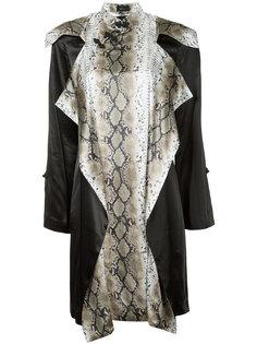 двухслойное платье с узким воротником-стойкой G.V.G.V.