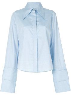 рубашка с необработанным подолом Marquesalmeida