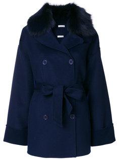 пальто с меховым воротником  P.A.R.O.S.H.