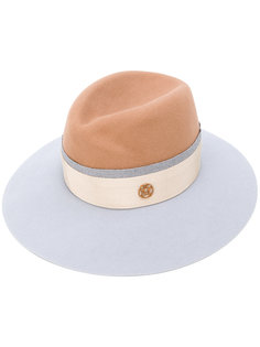 шляпа-трилби дизайна колор-блок Maison Michel