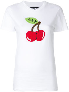 футболка с принтом вишни  House Of Holland