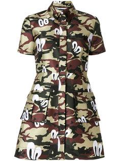 платье-рубашка с камуфляжным принтом  House Of Holland