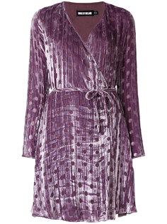 бархатное платье с V-образным вырезом  House Of Holland