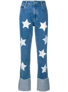 джинсы с принтом звезд House Of Holland