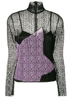 блузка с кружевной панелью House Of Holland