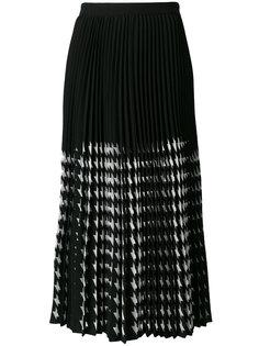 клетчатая юбка-миди MSGM