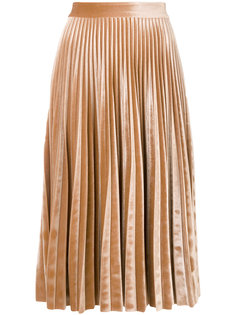 плиссированная юбка металлик  MSGM