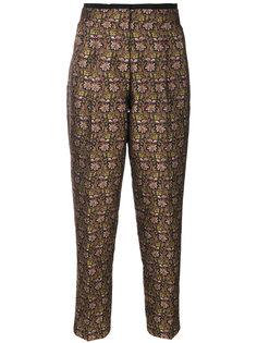зауженные брюки с цветочным принтом  Etro