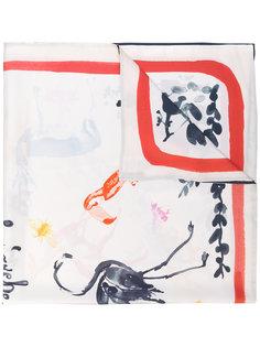 шарф с контрастной окантовкой Stine Goya