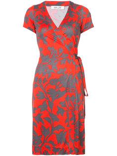 платье с запахом и цветочным узором Dvf Diane Von Furstenberg