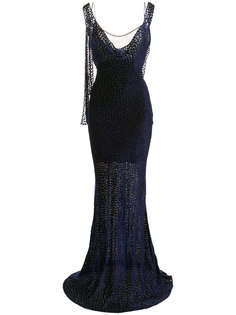 бархатное вечернее платье Dvf Diane Von Furstenberg