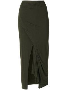 длинная юбка с разрезом Rick Owens Lilies