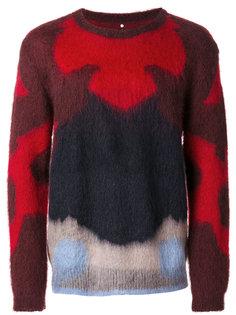"""трикотажный свитер дизайна """"колор-блок"""" Oamc"""