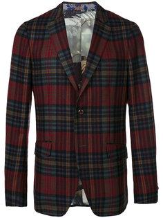 клетчатый пиджак с карманами с клапанами Etro