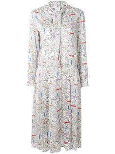 платье-рубашка с мелким принтом Ultràchic