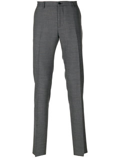 классические брюки с мелким узором Etro