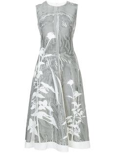 расклешенное платье с цветочным принтом Jil Sander