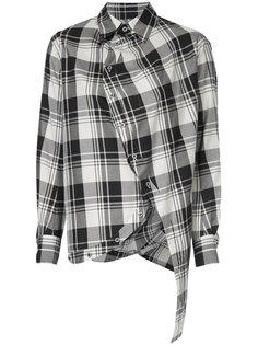 асимметричная рубашка с рисунком в шотландскую клетку Anrealage