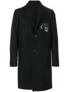 однобортное пальто Love Moschino