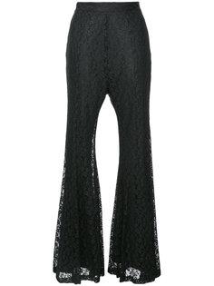 расклешенные брюки из металлизированного кружева G.V.G.V.