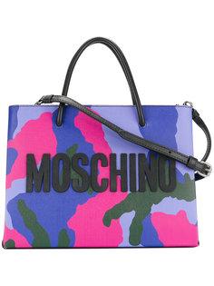 сумка через плечо с камуфляжным узором и логотипом Moschino