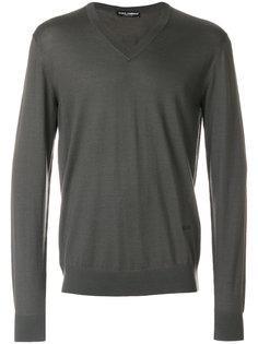 свитер с V-образным вырезом Dolce & Gabbana