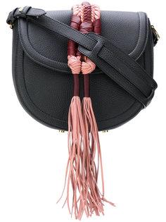 сумка-седло с плетеной отделкой Altuzarra