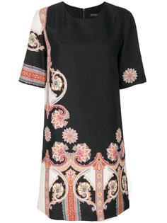 платье-шифт с узором  Etro