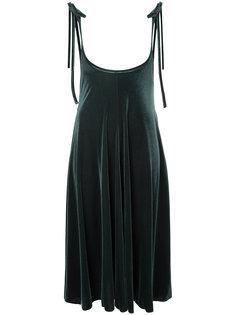 велюровое платье с завязками на банты G.V.G.V.