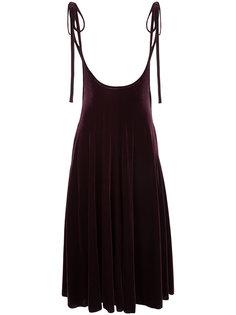 велюровое платье с завязками на бант G.V.G.V.