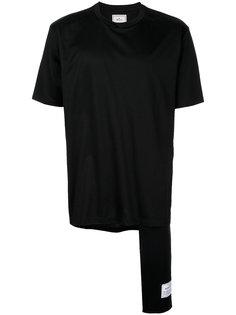 футболка с удлиненной вставкой Maison Mihara Yasuhiro