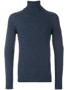трикотажный свитер с отворотной горловиной Roberto Collina