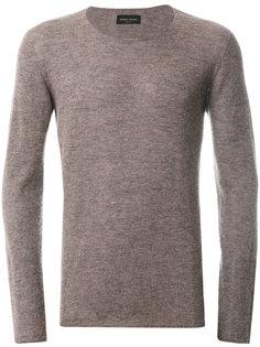 классический вязаный свитер Roberto Collina