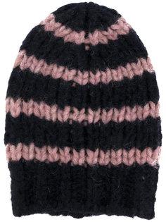 вязаная шапка-бини с узором в полоску Roberto Collina