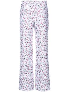 прямые брюки с цветочным принтом Altuzarra