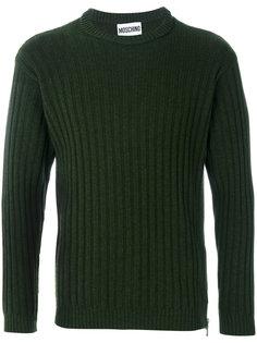 свитер с круглым вырезом Moschino